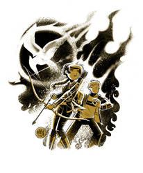 Katniss and Peeta by mikemaihack