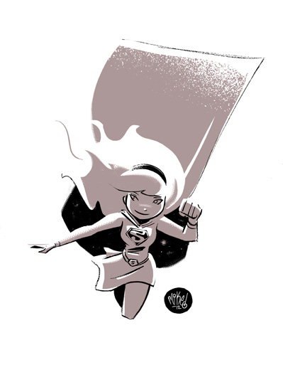 Supergirl Doodle by mikemaihack
