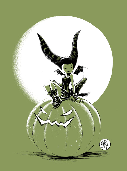 Pumpkin Witch by mikemaihack