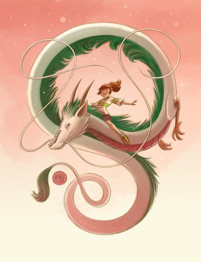 Chihiro and Haku by mikemaihack