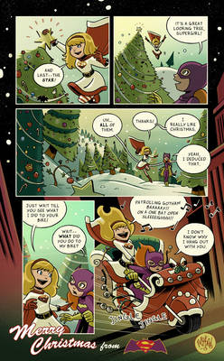 Another Merry Christmas from Batgirl and Supergirl