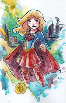 Watercolor: TV Supergirl
