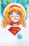 Watercolor: Supergirl
