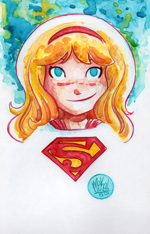 Watercolor: Supergirl by mikemaihack