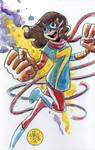 Watercolor: Ms Marvel
