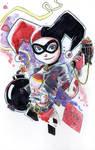Watercolor: Harley Quinn