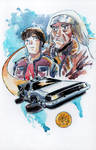 Watercolor Back to the Future