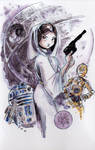 Watercolor: Princess Leia