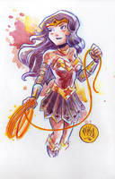 Watercolor: Wonder Woman by mikemaihack
