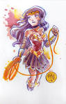 Watercolor: Wonder Woman