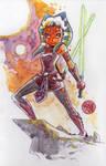 Watercolor: Ahsoka Tano