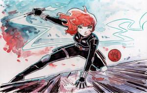 Watercolor: Black Widow