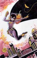 Watercolor: Batgirl of Burnside by mikemaihack