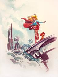 Supergirl Watercolor
