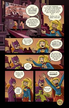 Batgirl Supergirl Election Comic