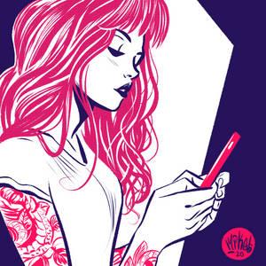 Girl Sketch Pink