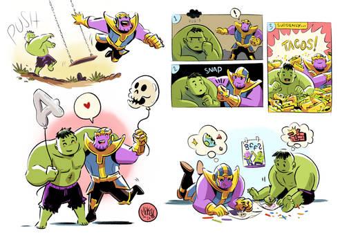 Hulk and Thanos Bffs