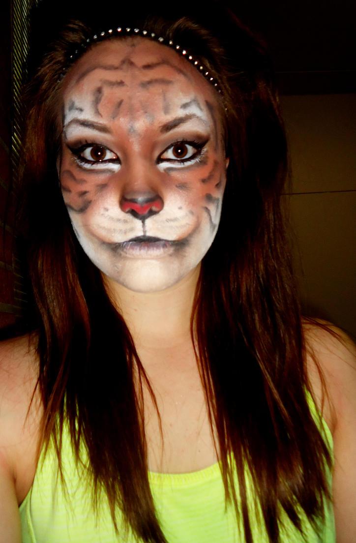 Tiger Makeup 2 ... Realistic Tiger Makeup