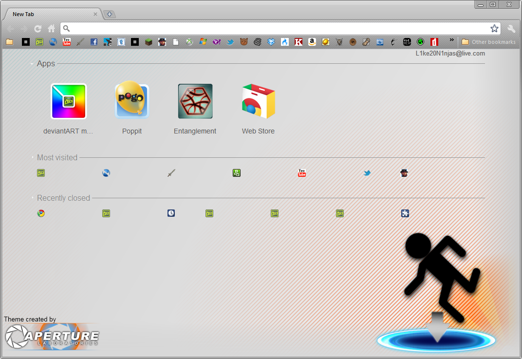 Google chrome themes apply - Simple Portal Chrome Theme By Mulsivaas