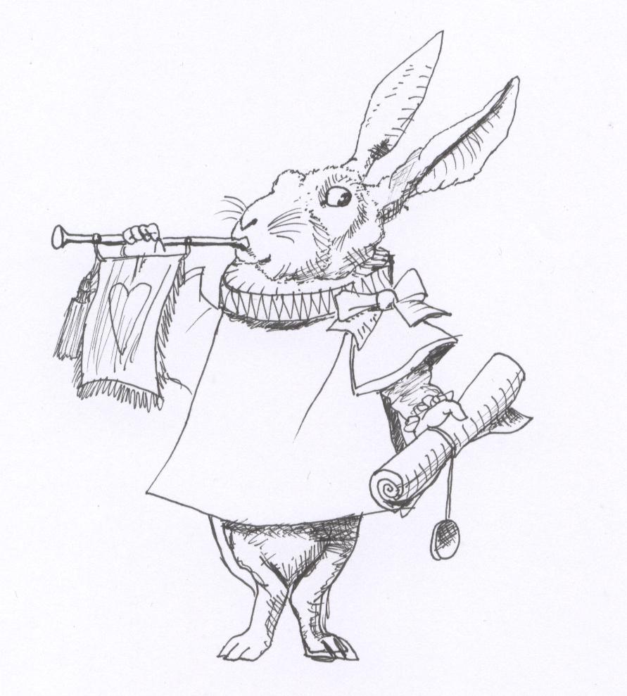 Alice In Wonderland  Bunny By Dessigoesgothic