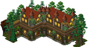 Medieval House Habbo by Mookye