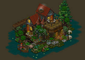 Fisherman's house habbo by Mookye