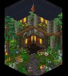 Medieval house habbo   Build on BobbaHotel