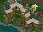 Medieval market habbo / Build on Bobba Hotel