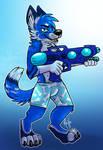 .: Watergun Blue Pup [YCH]