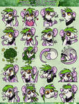 .: Meoxie - Rat and Broccoli - Sticker Pack