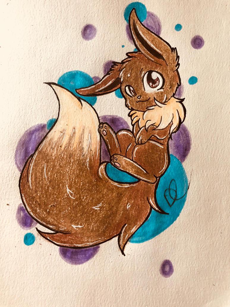 Cute eevee  by sakuwolf666