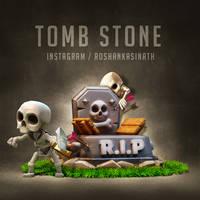 Clash Royale TombStone by roshankasinath