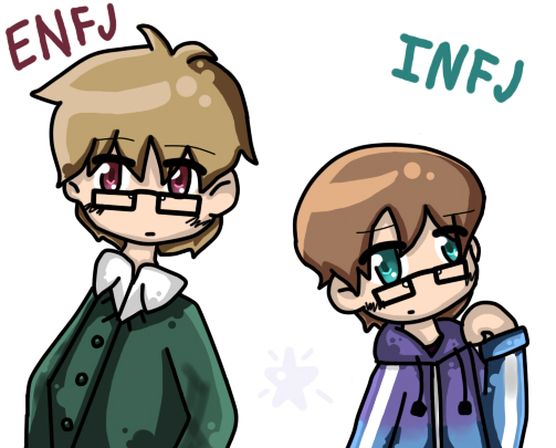 Project MBTI - Christopher (ENFJ) and Ethan (INFJ) by MythicalMagical