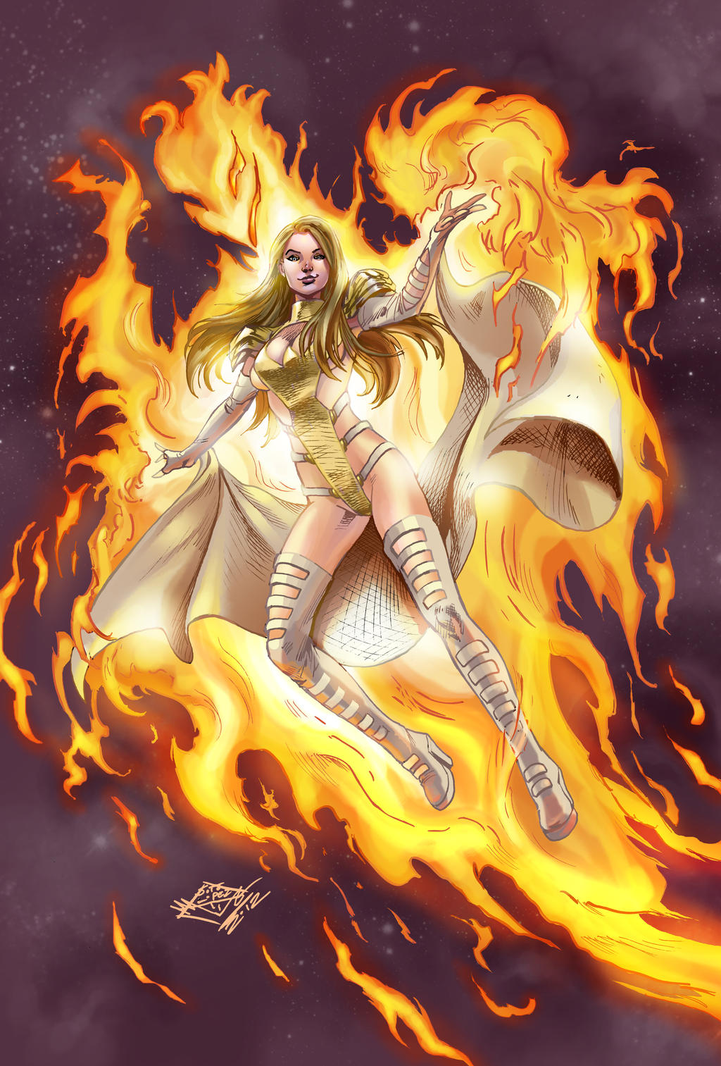 Emma Frost / White Queen (PHOENIX FIVE Version) by sagaman