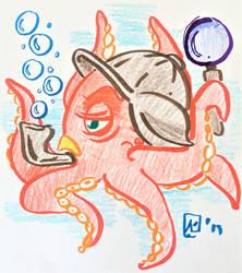 5' - Octopus Holmes by AKikkaKikka