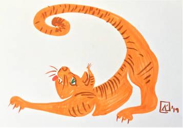 5' - Ginger cat by AKikkaKikka