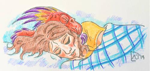 Asleep again by AKikkaKikka