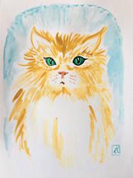 For DoodlAnne - Cat by AKikkaKikka
