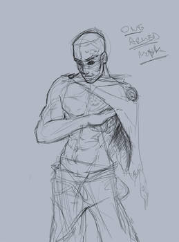 One armed monk sketch