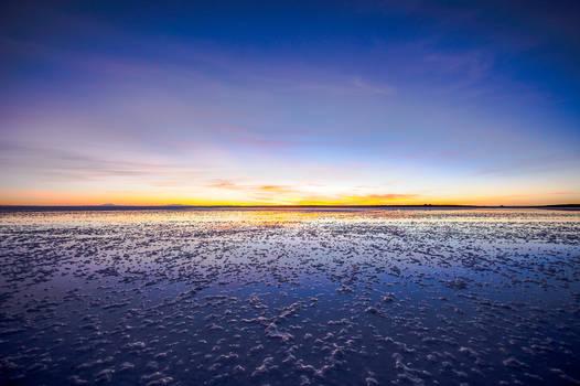 Sunrise in the salt flats, Uyuni, Bolivia