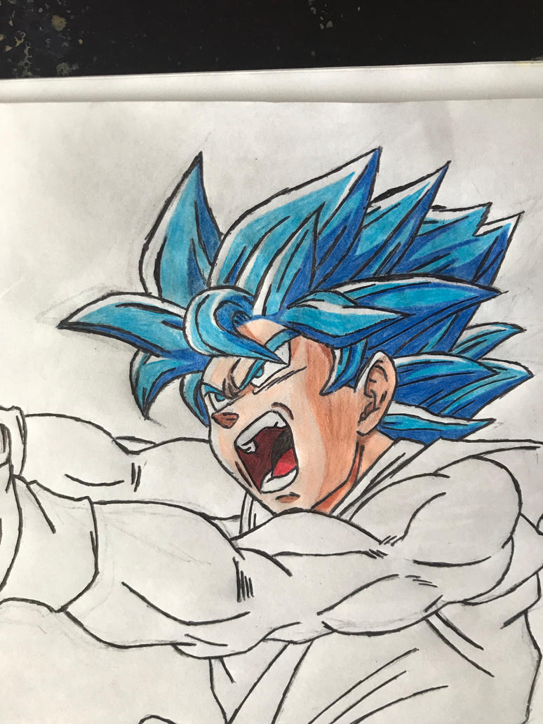 Goku SSJ Blue - Dragon Ball by andregps