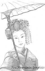 Geisha by liquidblueeyes