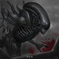 Alien covenant fan art- 'RUN' by the6829