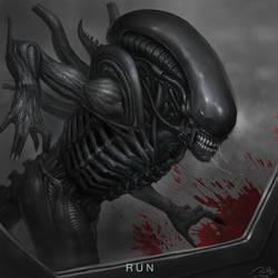 Alien covenant fan art- 'RUN'