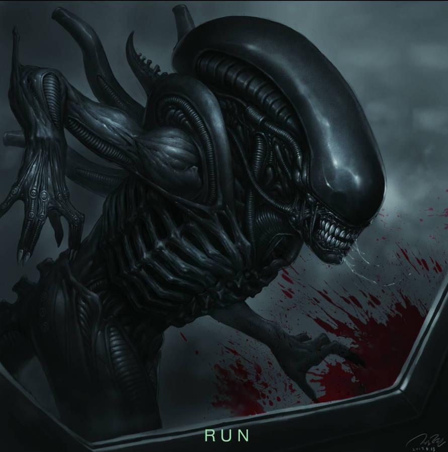 Alien: covenant fan art - 'RUN'
