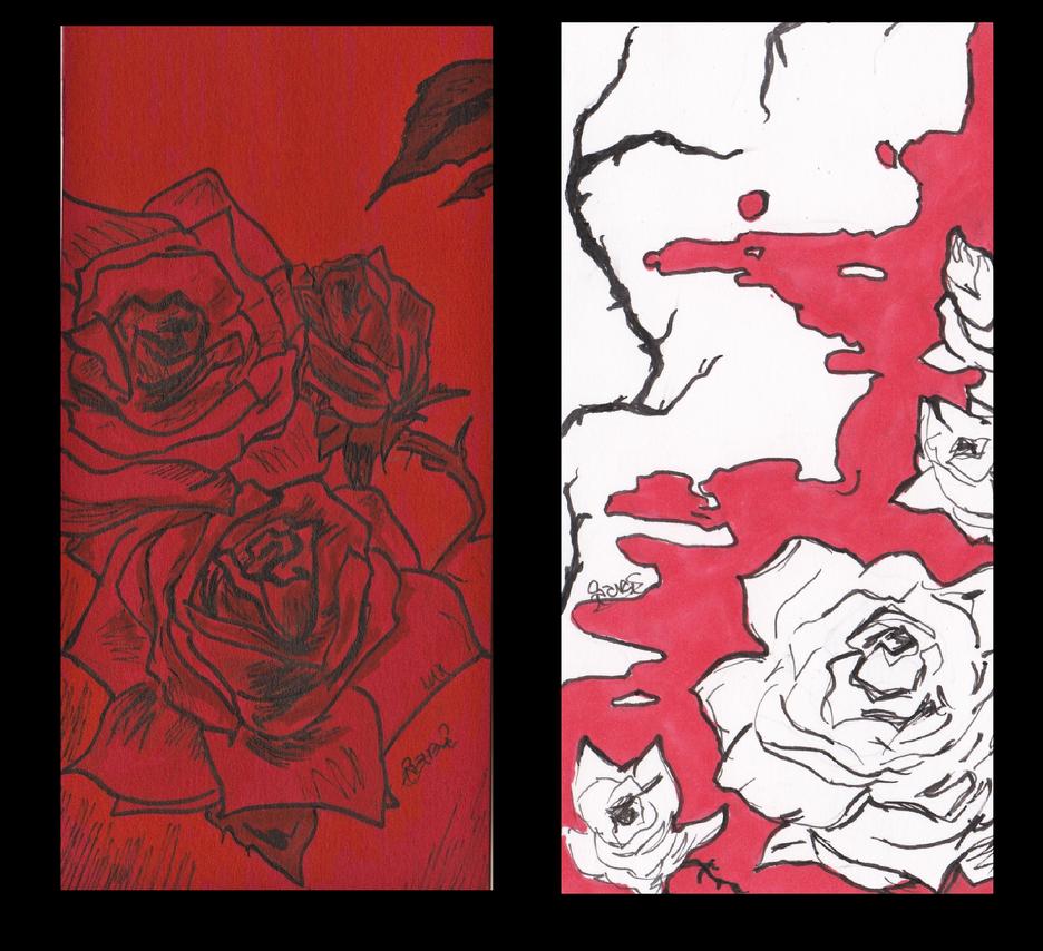 Marcapaginas Rosas by sarayaga