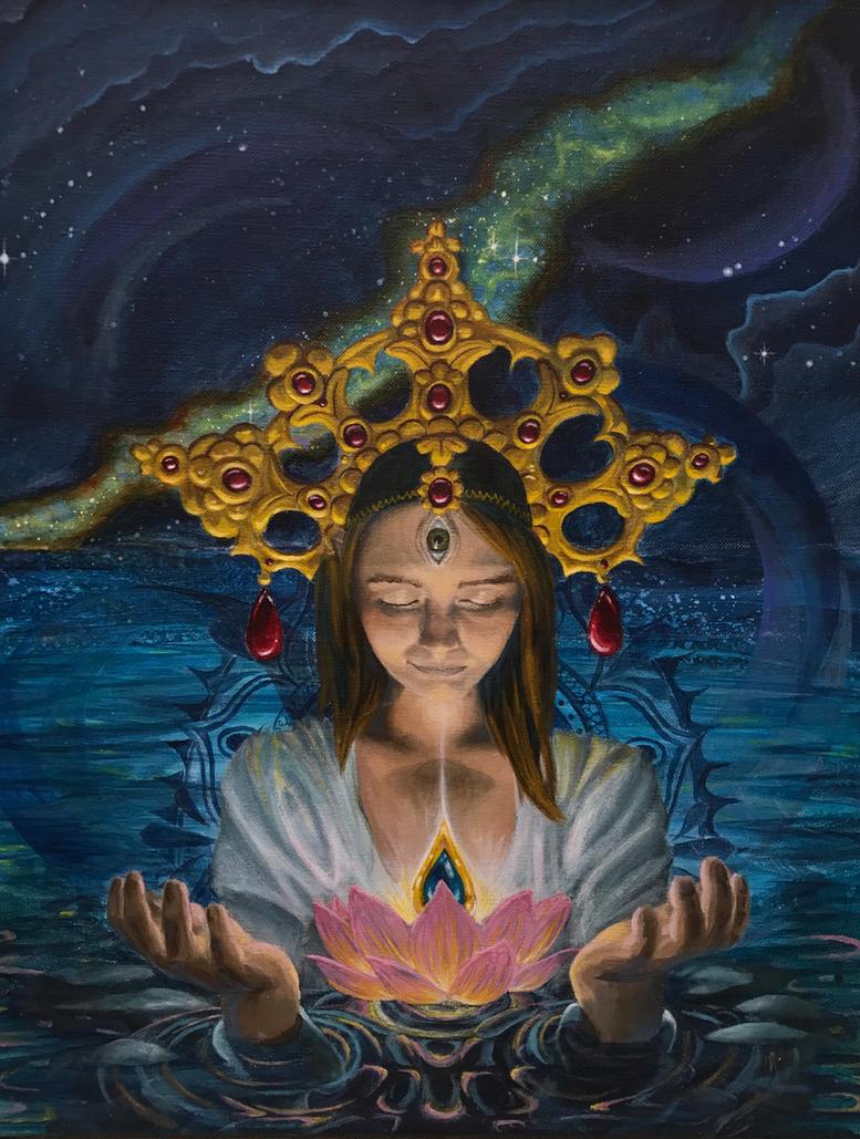Jewel In The Lotus Flower By Silverarrowart On Deviantart