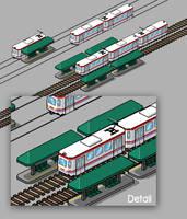 Pixel Art - Electric Train by DXC381