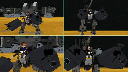 MMD Study: Claws and Gunpods by ChibiAI-kun