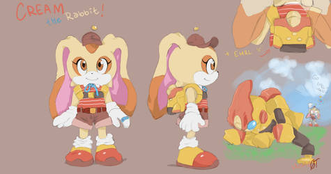 Cream the Rabbit concept by YinofYan
